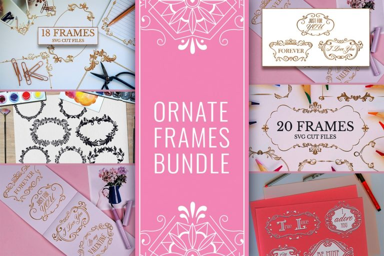 1. Floral Frames SVG Files Bundle Preview
