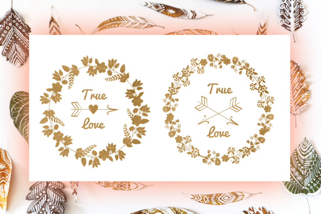 Floral Wreaths SVG Cut Files Pack 1