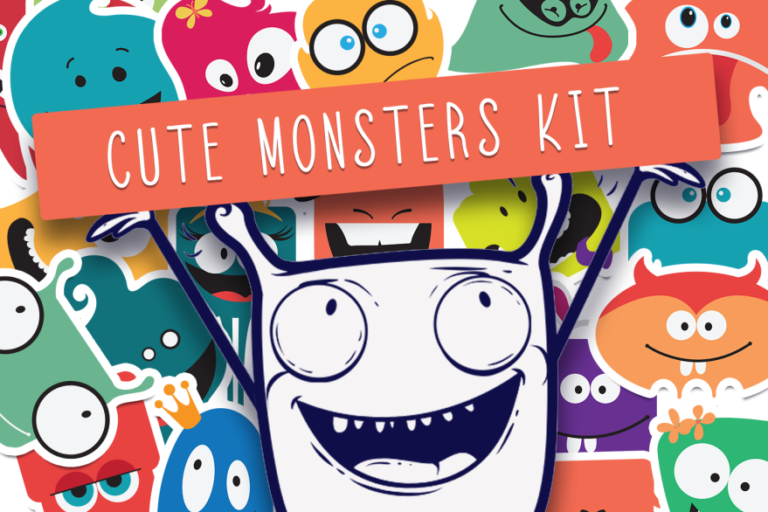 Cute Monsters Creation Kit Preview 1