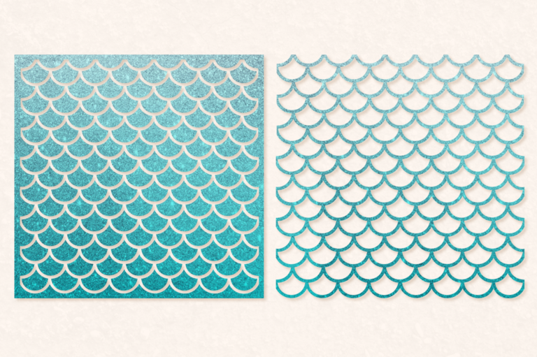 Mermaid Scales SVG Cut File 1