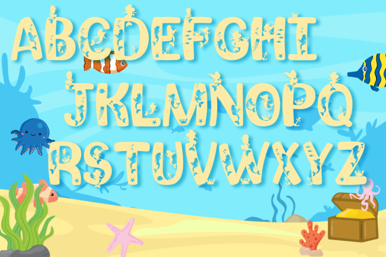 Mermaids SVG Alphabet Preview