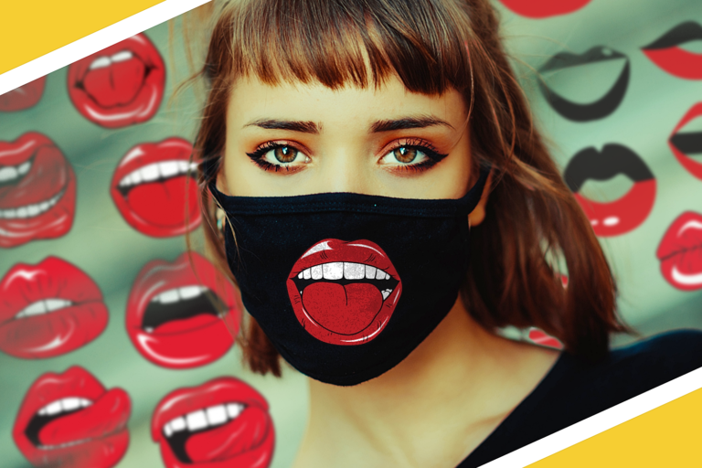 Lips Masks SVG Files Pack Preview 1